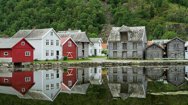 domki jednorodzinne nad jeziorem